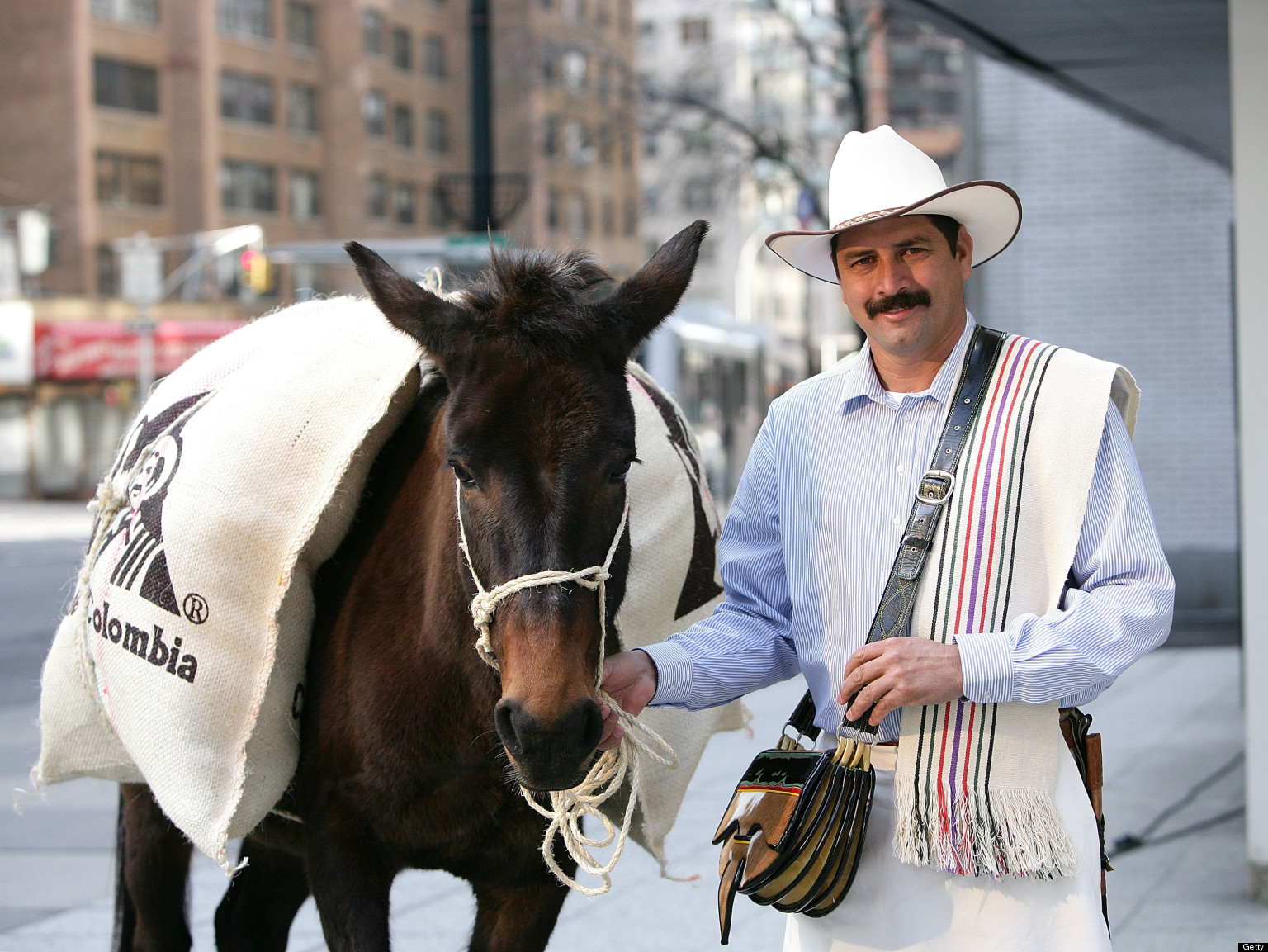Juan Valdez Visits New York To Hand Out Cups Of 100% ...