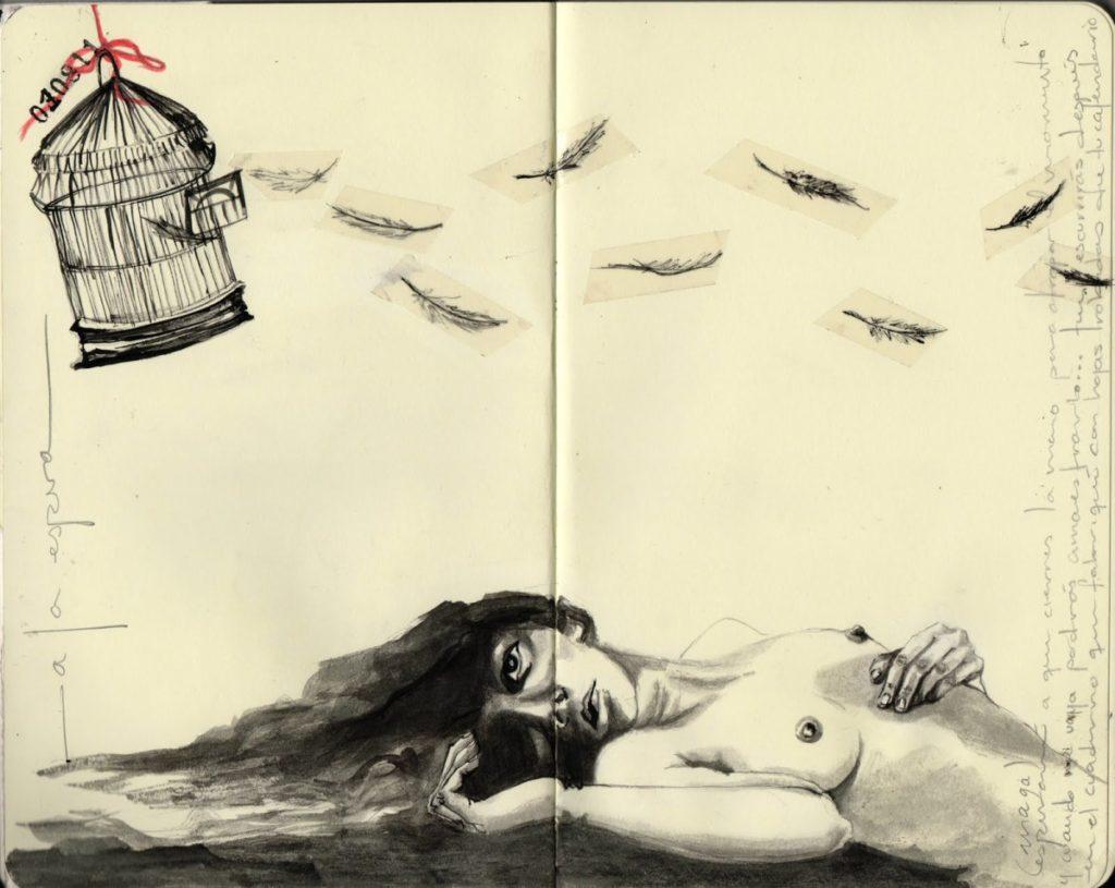 A la espera. Ilustración de © Erika Kuhn.