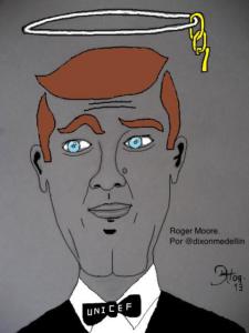 Roger Moore por @dixonmedellin