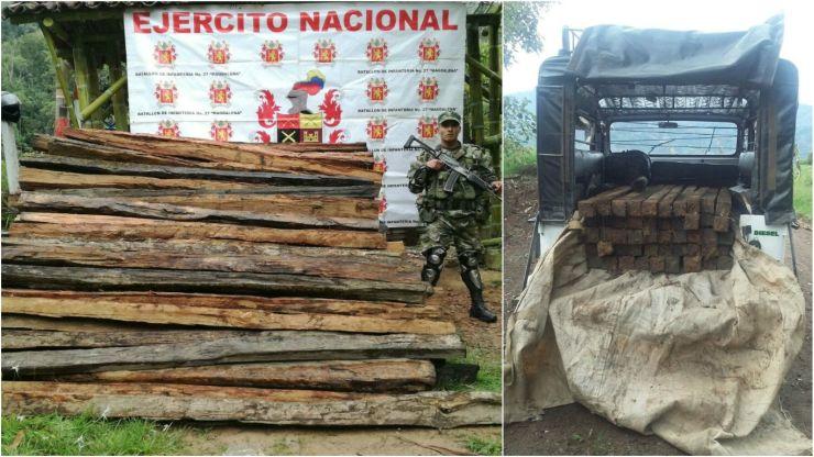 roble colombia madera incautada