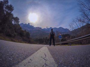 En la autopista camino a Montserrat