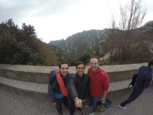 Con Xavi y Marc