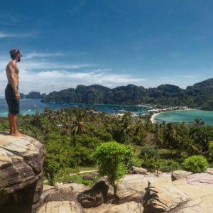 En las islas Phi Phi, Tailandia