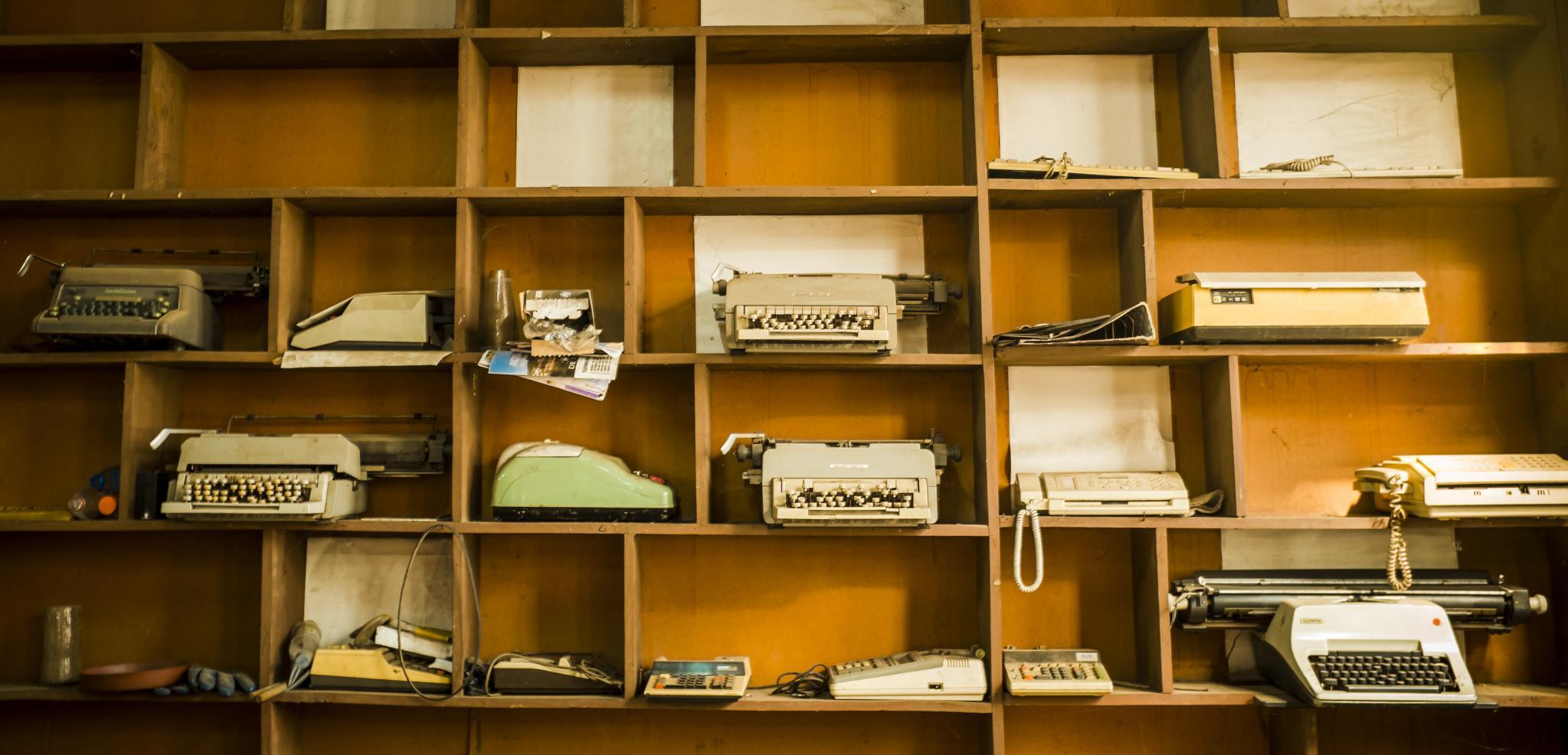 Cementerio de máquinas de escribir. Foto: Carlos Reusser Monsalvez.
