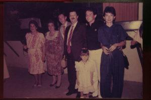Clara, el día de mi grado en Santa Marta, con la familia.