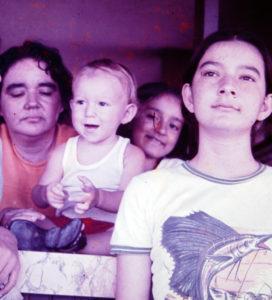 Durante los años más tranquilos, en Santa Marta, con su familia entonces