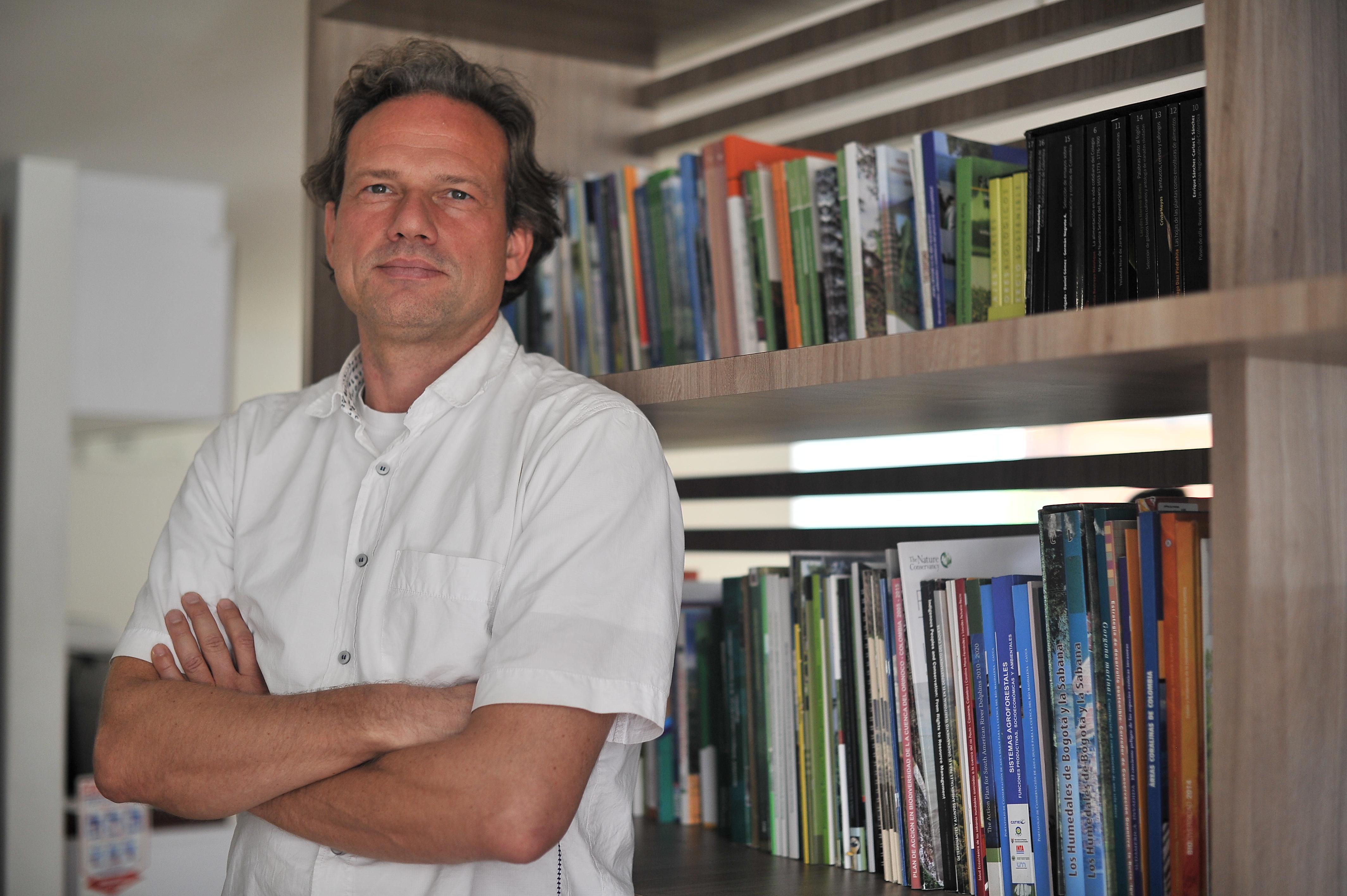 Bogotá(Colombia) 27/10/2017. - Lars Ribbe, experto en aguas del ITT. Foto Óscar Pérez