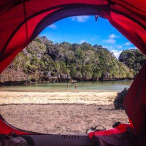 Viajando con carpa en Indonesia