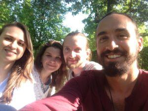 Con mis amigos de CS en Rusia