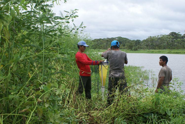 Salida de campo en medio del proyecto sobre el análisis de humedales en el departamento colombiano de Amazonas. Foto de Nelly Kuiru – Instituto SINCHI