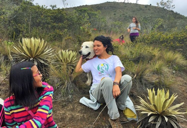 Oriana Bonilla Pérez es ecóloga. Su amor por la naturaleza despertó en los parajes de la Reserva Semillas. Foto: Sonia Pérez.