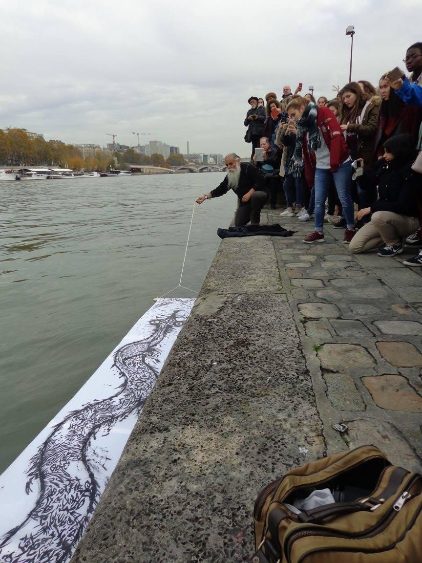 La serpiente del río Sena (París) - Dioscórides Perez (Facebook)