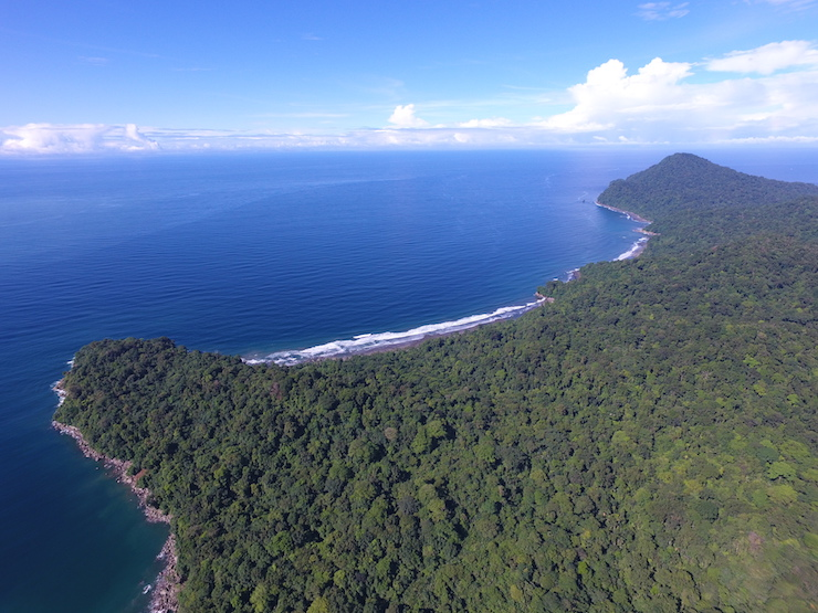"""Cabo Corrientes, parte de la DRMI """"El Encanto de los Manglares del Bajo Baudó"""". Foto: Fundación MarViva."""