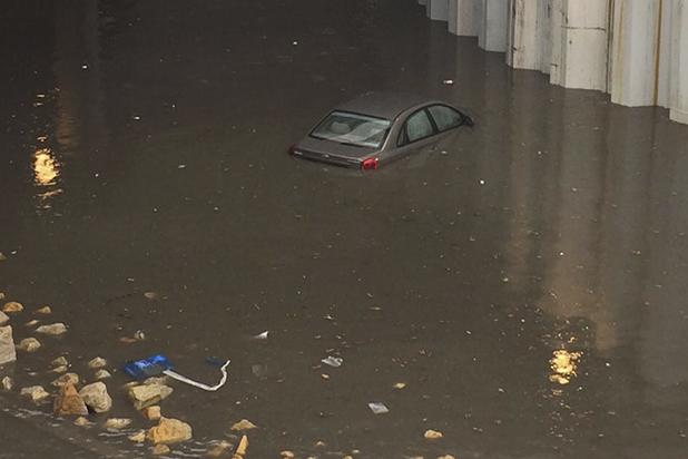 El deprimido de la 94 y otras zonas de Bogotá, afectadas por la fuerte lluvia