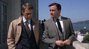 Steve McQueen y Robert Vaughn en escena de Bullit.
