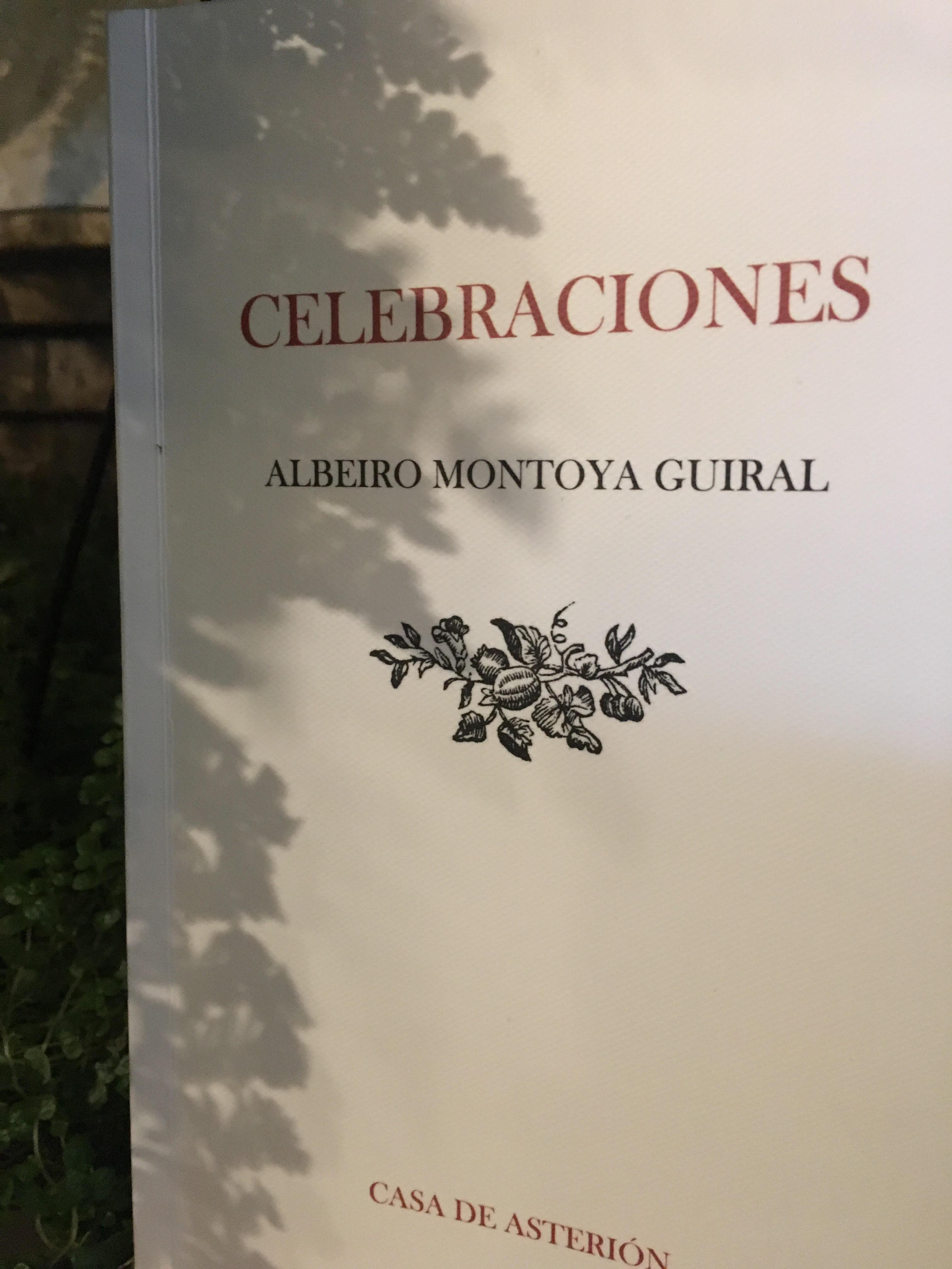 Portada de «Celebraciones», Casa de Asterión Ediciones, Pereira, 2017.