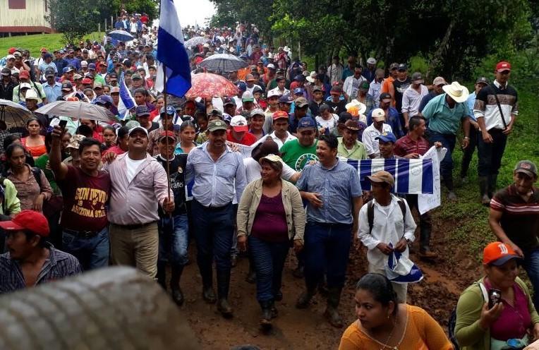Francisca Ramírez es una campesina del sureste de Nicaragua que ha liderado cerca de un centenar de marchas contra el proyecto de un canal interoceánico que afectaría una de las zonas boscosas más ricas de Centroamérica. Foto: Aracelly Hurtado.
