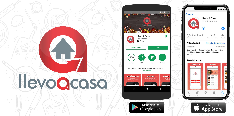 Llevo a Casa aplicación para solicitar comida a través de internet