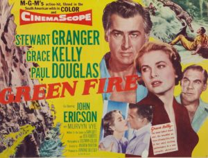 Afiche de Green Fire (Fuego Verde, 1954)