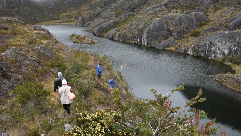 Una de las lagunas que se pueden encontrar en el Páramo de Santurbán en el nororiente de Colombia. Foto: Agencia de comunicación CONSTRUYENDO REGIÓN.