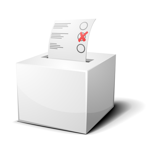 detailed illustration of a ballot box isolated on white
