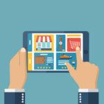 Shopping online tablet men