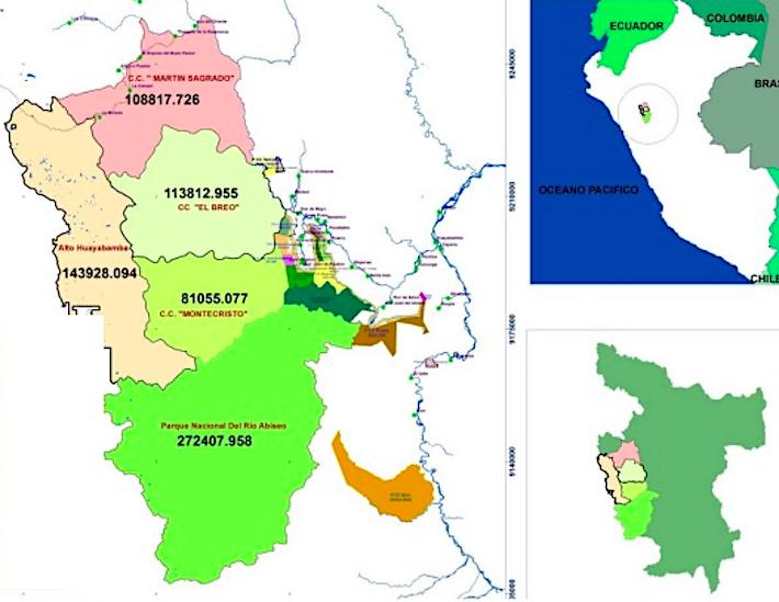 La Reserva de Biósfera Gran Pajatén reúne al Parque Nacional Río Abiseo pero a otras concesiones para la conservación y espacios para la reforestación y agricultura sostenible. Crédito: Fundación Amazonía Viva.
