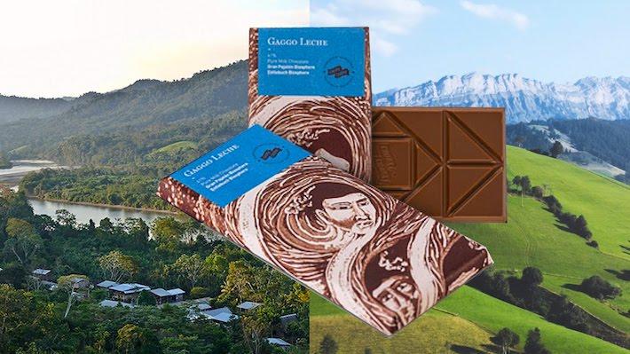 La empresa peruana suiza Choba Choba tiene como socias a 36 familias de Alto Huayabamba y con el cacao que producen y la leche de los ganaderos suizos han creado el primer chocolate de dos reservas de biósfera de la Unesco. Crédito: Choba Choba.