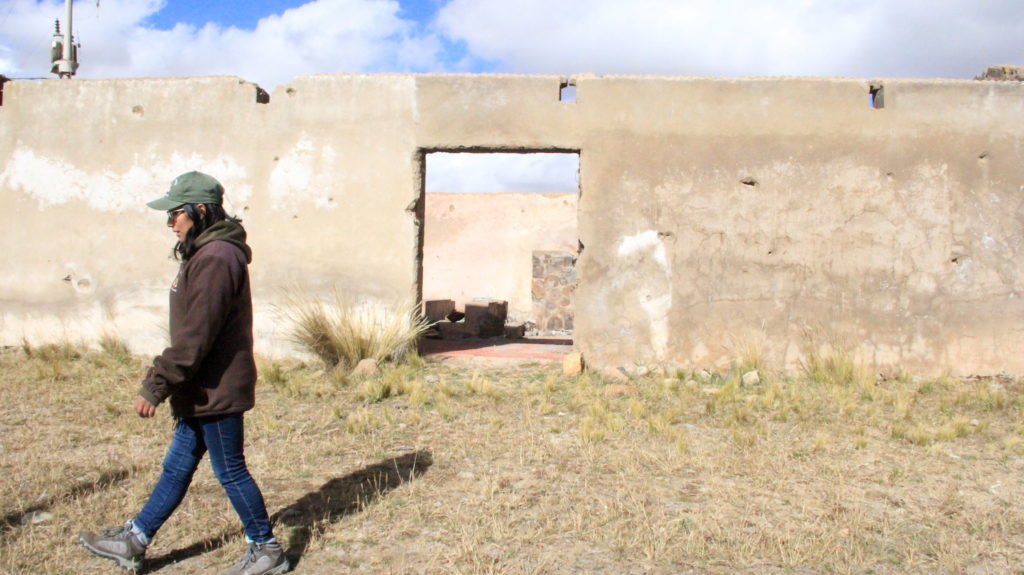 En 1988, el Estado peruano tuvo que clausurar las oficinas de la reserva Pampas Galeras Bárbara D'Achille por los atentados terroristas de Sendero Luminoso. En la guerra se destruyeron varias construcciones y aún permanecen como vestigios. Foto : anessa Romo /Mongabay Latam