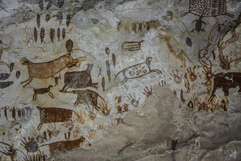 Algunas pinturas rupestres en el Parque Nacional Serranía de Chiribiquete tienen entre 12 000 y 20 000 años. Foto: Parques Nacionales.