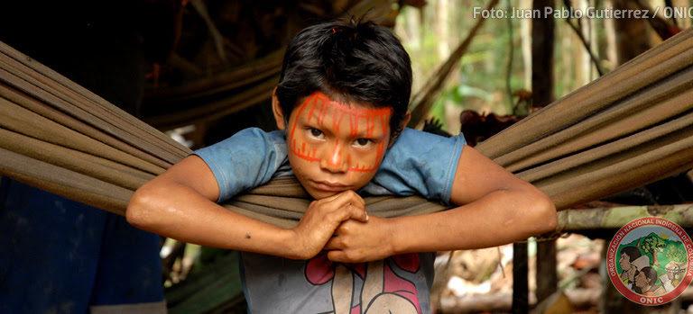 Niño Nukak en el departamento de Guaviare. Foto: Juan Pablo Gutiérrez / ONIC.