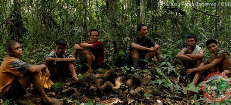 Los Nukak fueron contactados por primera vez en Colombia hace cerca de 30 años. Foto: Juan Pablo Gutiérrez / ONIC.