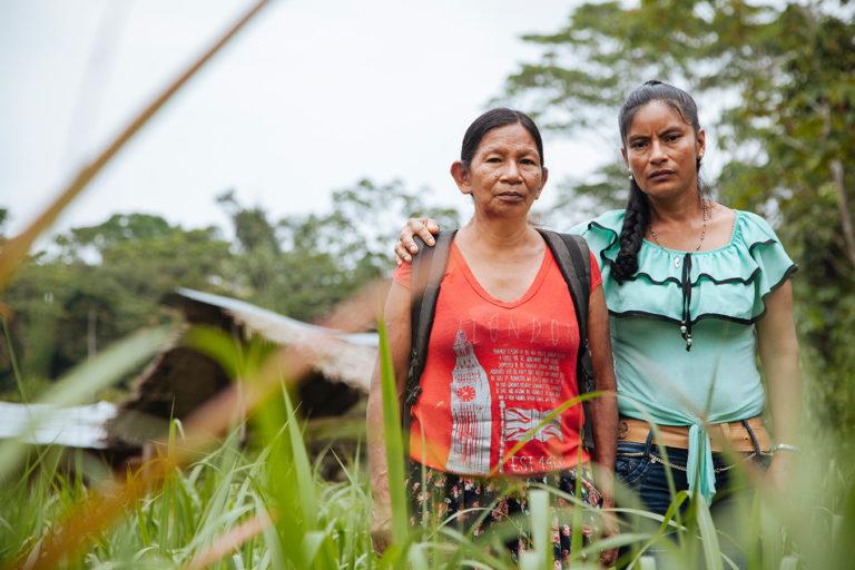 Mujeres de la comunidad Siona Buenavista. Foto: Amazon Frontlines.