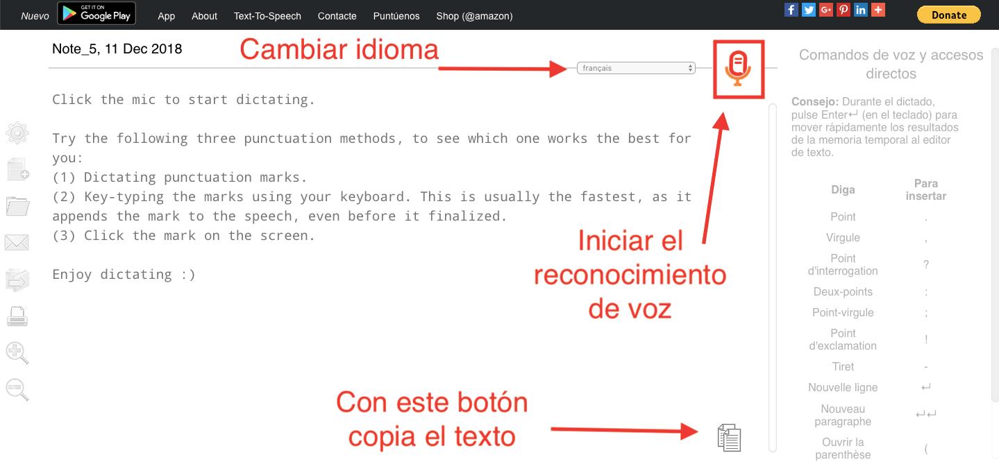 Cómo escribir mas rápido en el ordenador con Speechnotes