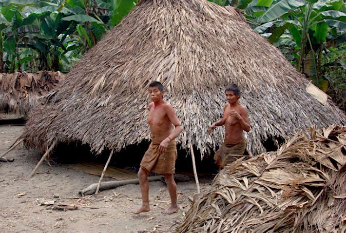 Al interior de la Reserva Territorial Kugapakori, Nahua, Nanti y otros se encuentran viviendas temporales como esta, habitadas por indígenas aislados. Crédito: INDEPA.