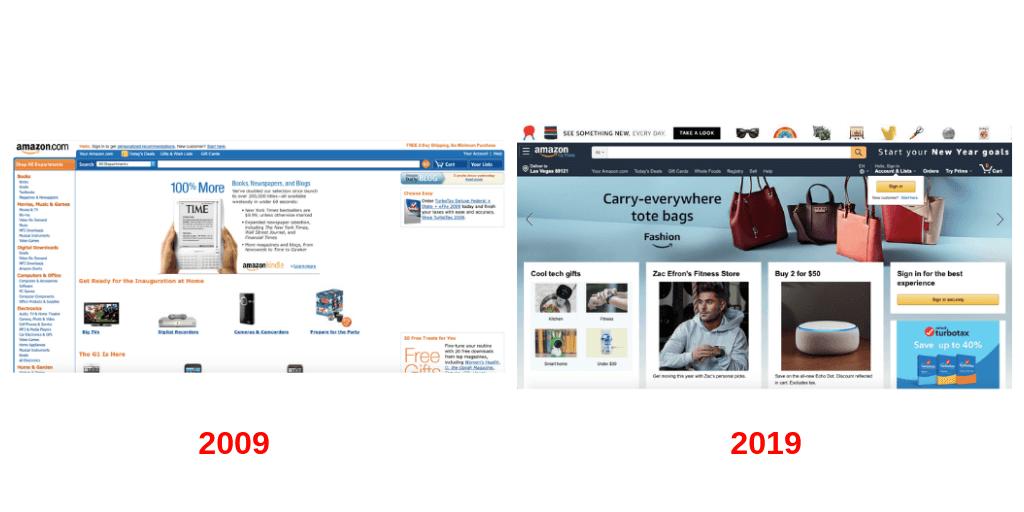 Cómo ha cambiado Amazon, una de las primeras grandes compañías en vender bienes a través de Internet