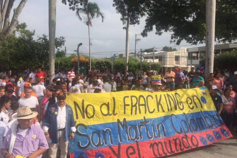 San Martín es uno de los lugares donde se proyecta uno de los primeros pilotos para fracking. Foto: Alianza Colombia Libre de Fracking.