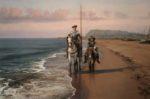 Don Quijote y Sancho en el mar.