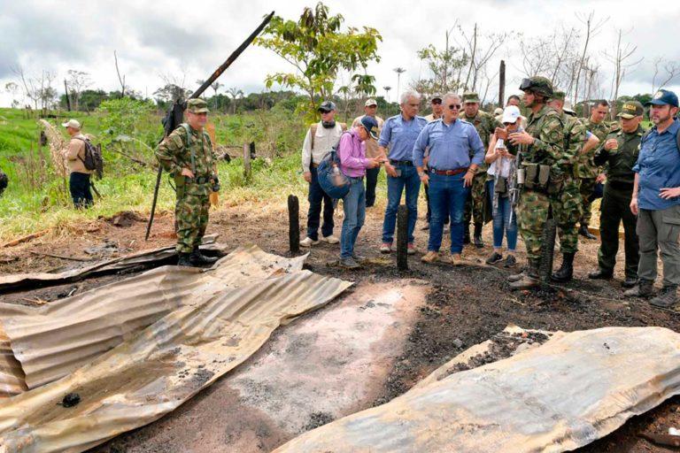 El Presidente Iván Duque explicó que restaurar las 120 hectáreas recuperadas en la Serranía de Chiribiquete, puede remover 22 mil toneladas de CO2 de la atmósfera en 8 años. Foto: Efraín Herrera – Presidencia de Colombia.
