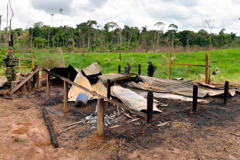 En la primera fase de la Operación 'Artemisa', en la Serranía de Chiribiquete y los Llanos de Yarí, la Fuerza Pública recuperó 120 hectáreas de bosques, capturó a 10 personas y decomisó vehículos, armas y maquinaria. Foto: Efraín Herrera – Presidencia de Colombia.
