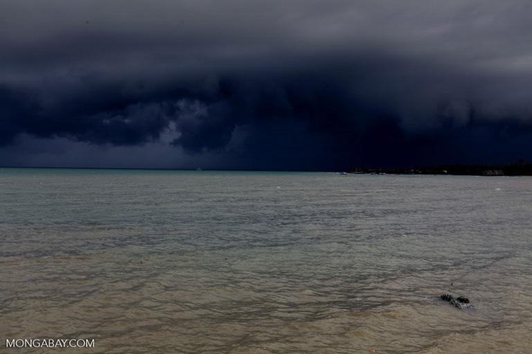 Una tormenta que se crea en la costa de la isla indonesa de Java. Imagen por Rhett A. Butler/Mongabay.