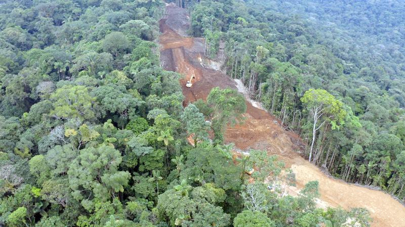 Según el informe, de los 136 000 kilómetros de longitud mapeados en la región, por lo menos 26 000 kilómetros se encuentran superpuestos con áreas naturales protegidas y territorios indígenas. Cortesía