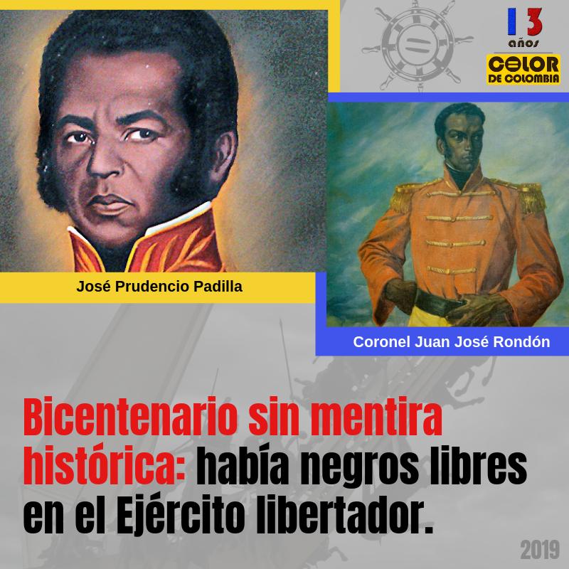 Bicentenario sin mentira histórica. ¡Había negros libres en el Ejército libertador!