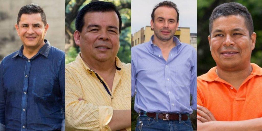 Jorge Iván Ospina,Roberto Ortiz, Alejandro Eder y Alexander Durán. Collage: Roy Chavez/Publimetro