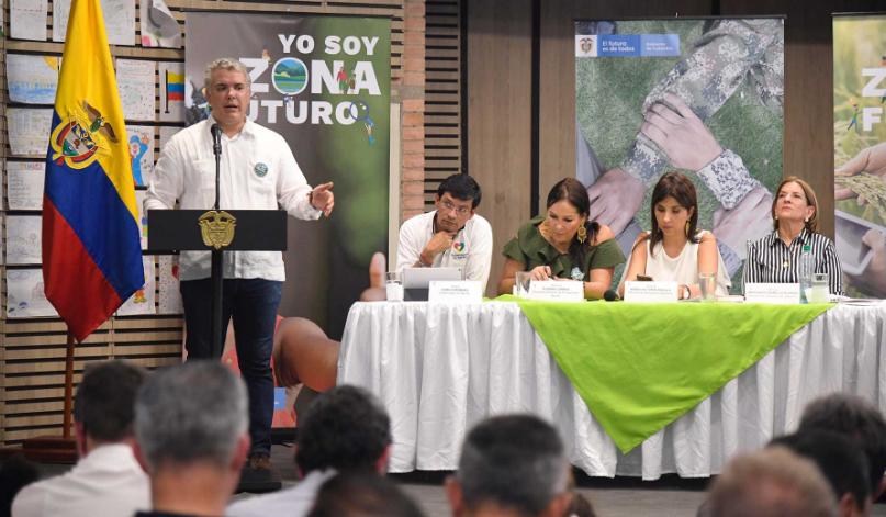 """Lanzamiento de """"Zonas Futuro"""". Foto: Efraín Herrera-Presidencia."""