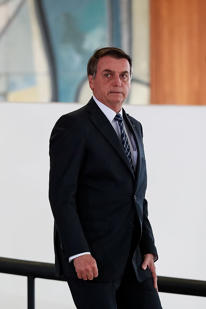El presidente de Brasil, Jair Bolsonaro, después de una ceremonia en Brasilia en agosto de 2019. Foto: Alan Santos / Presidencia de Brasil a través de Flickr Commons (CC BY 2.0).