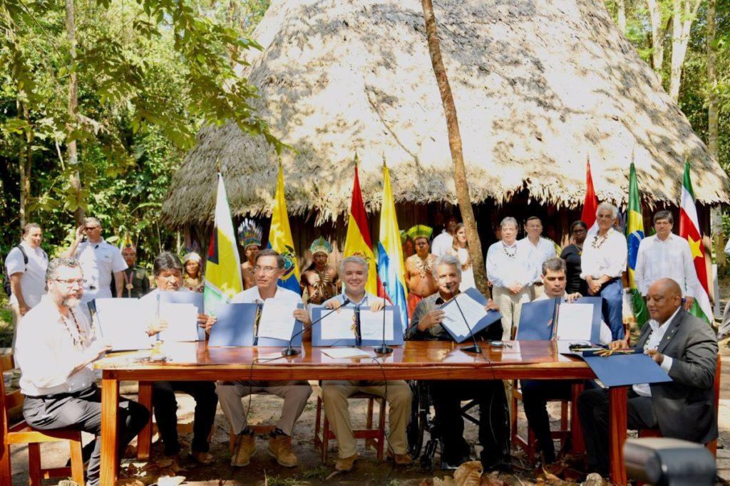 El departamento colombiano del Amazonas acogió el 6 de septiembre la Cumbre Presidencial por la Amazonía, en la cual siete países de la región firmaron el Pacto de Leticia. Foto: Nicolás Galeano – Presidencia de Colombia.