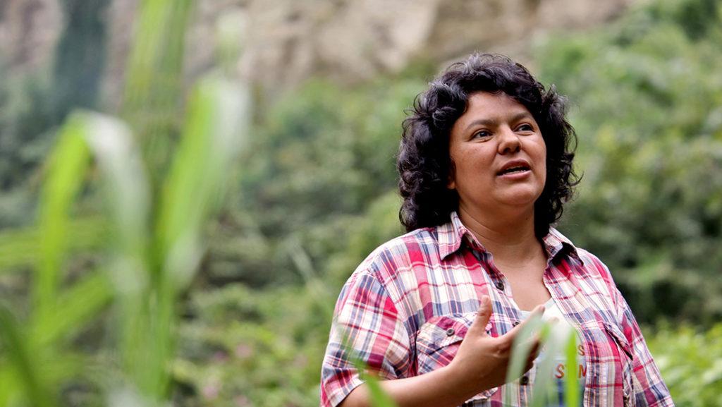 Berta Cáceres en Honduras. Foto: Cortesía de Goldman Environmental Prize.
