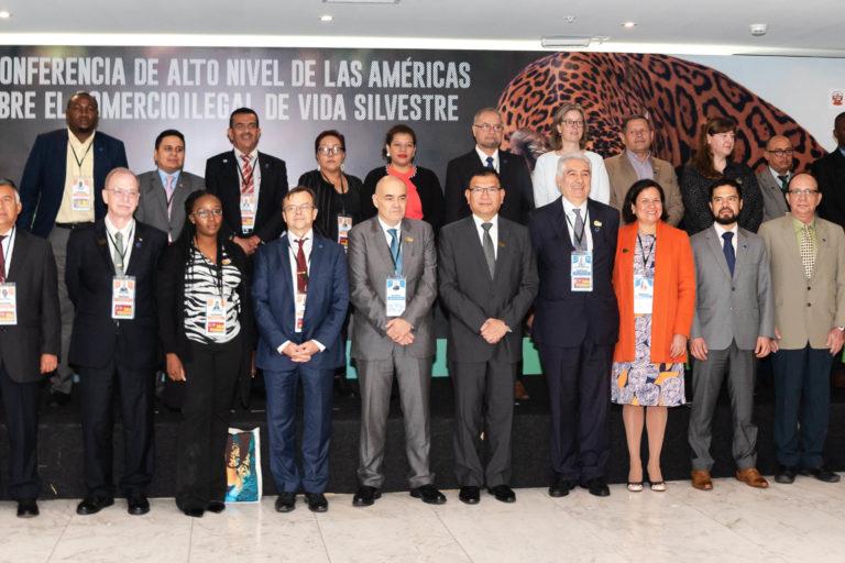 La primera Conferencia de Alto Nivel de las Américas sobre el Comercio Ilegal de Vida Silvestre convocó a 30 países de las Américas y Europa para debatir sobre los mejores caminos para combatir el tráfico de especies amenazadas. Foto: Serfor.