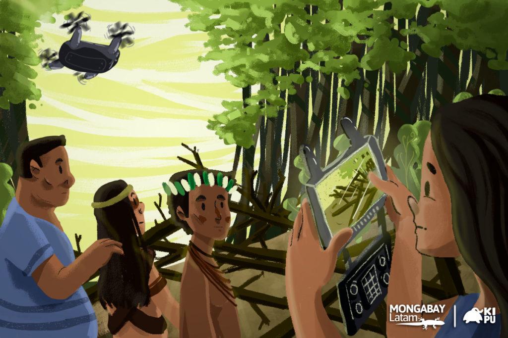 Tecnología para cazar delitos: monitores indígenas combaten la ilegalidad